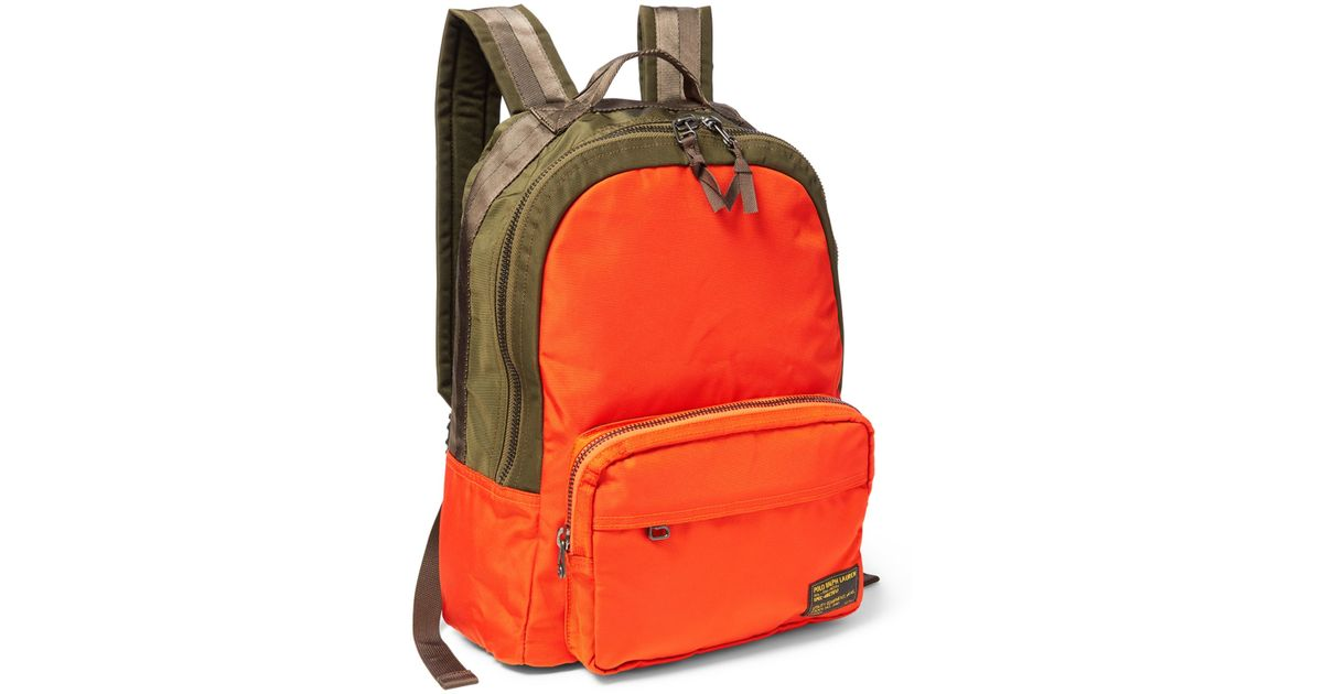 0bac1ed4faa2 Lyst - Polo Ralph Lauren Camo-print Military Backpack in Orange for Men