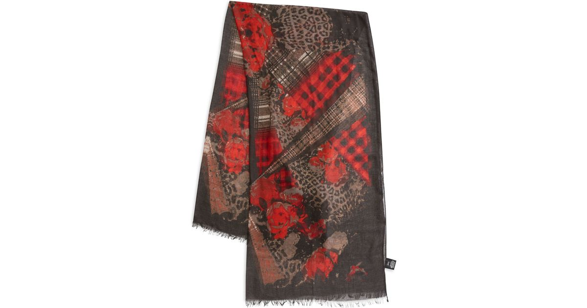 lord printed scarf in lyst