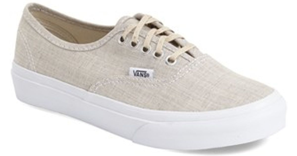 d3a206ef0a9b35 Lyst - Vans  authentic - Slim  Chambray Sneaker in Natural