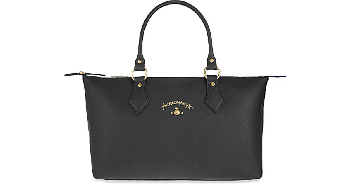 3e34c3c7d5 Lyst - Vivienne Westwood Divina Faux-leather Shopper in Black