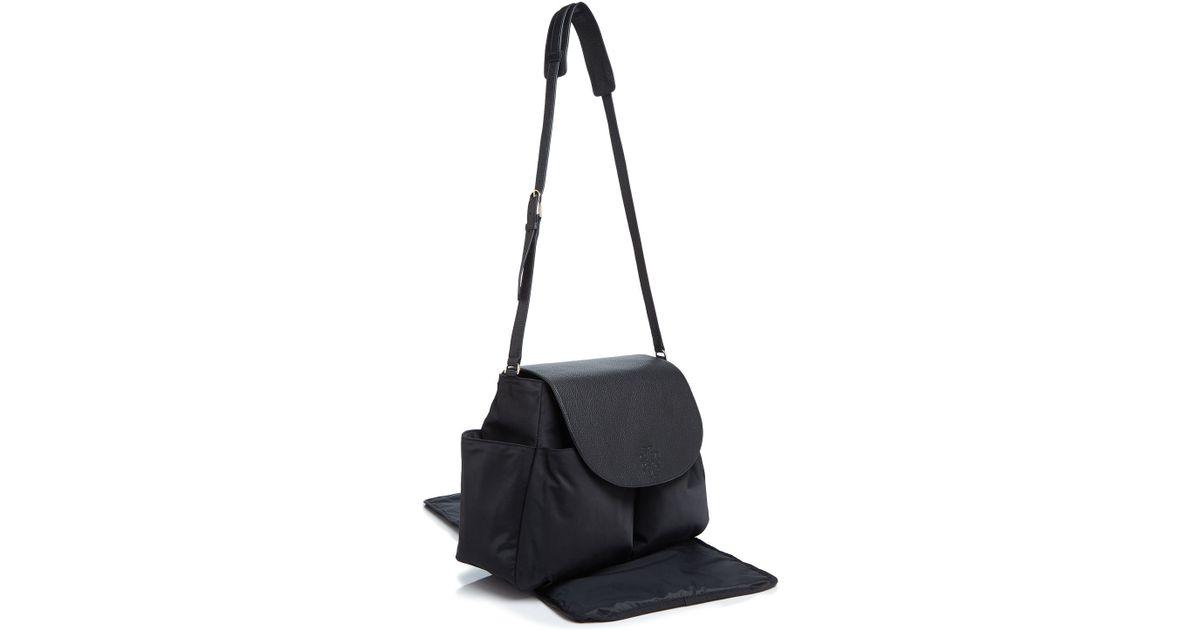 a4ba8ff86b6 Lyst - Tory Burch Thea Nylon Messenger Diaper Bag in Black