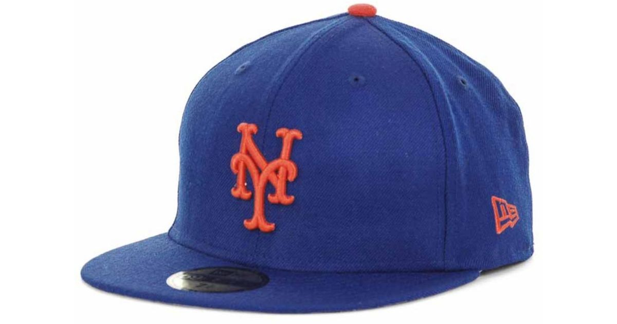 4c0e650a8af Lyst - Ktz New York Mets Retro World Series Patch 59fifty Cap in Blue for  Men