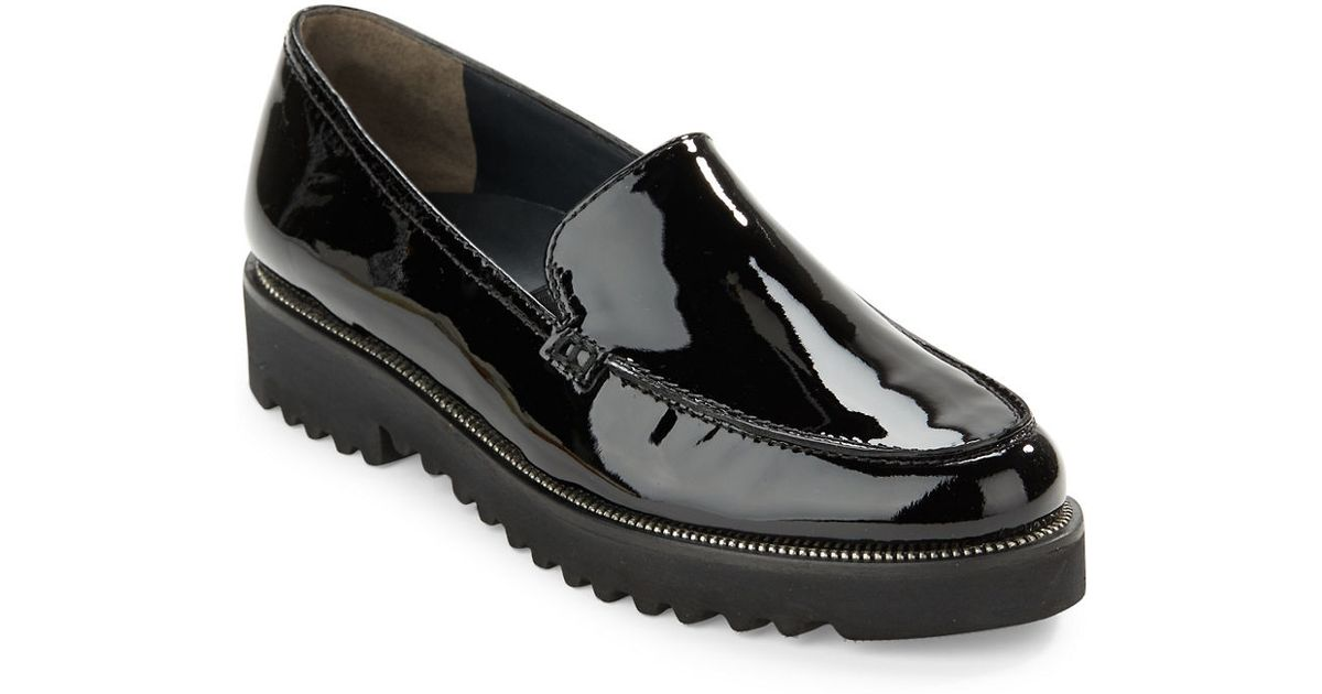 Paul Green Ariana Patent Leather Loafers In Black Lyst