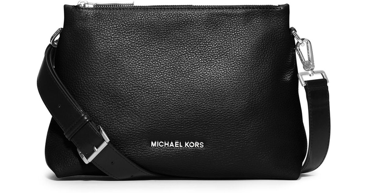 b33f84af5528 Lyst - Michael Michael Kors Jane Medium Leather Messenger Ba .