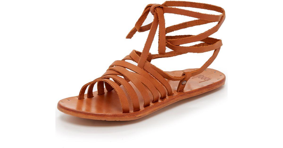 f2afd8938da Lyst - Beek Heron Gladiator Sandals in Brown
