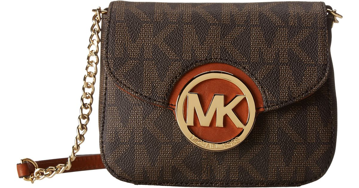44982cb7fe10 MICHAEL Michael Kors Fulton Small Crossbody in Brown - Lyst