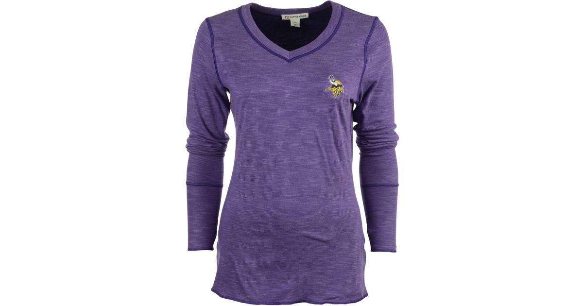 Lyst - Cutter   Buck Women s Long-sleeve Minnesota Vikings Reversible  Formation T-shirt in Purple bf6407b45