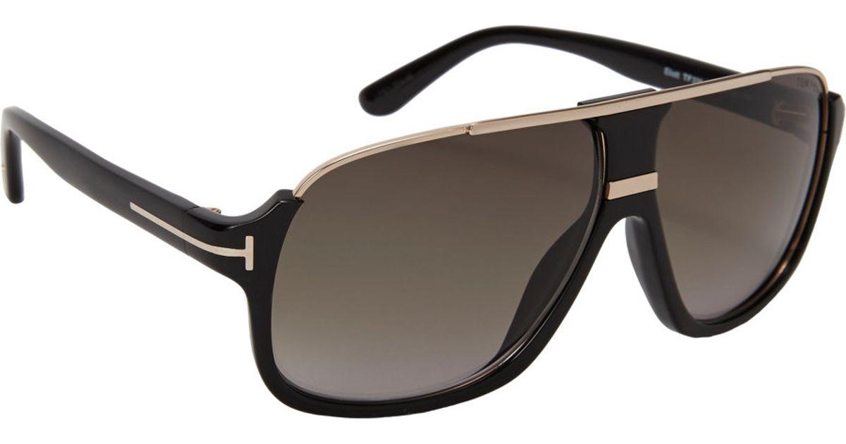 d08bbad101 Tom Ford Elliot Sunglasses in Green for Men - Lyst