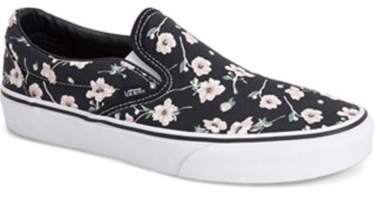 1eb0fef85712db Lyst - Vans  classic  Floral Print Slip-on in Blue