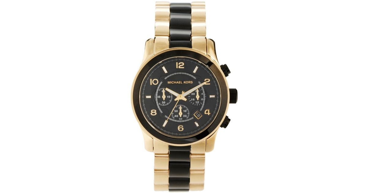 d745b28cdb31 Lyst - Michael Kors Runway Gold Ion Plated Bracelet Watch in Metallic for  Men