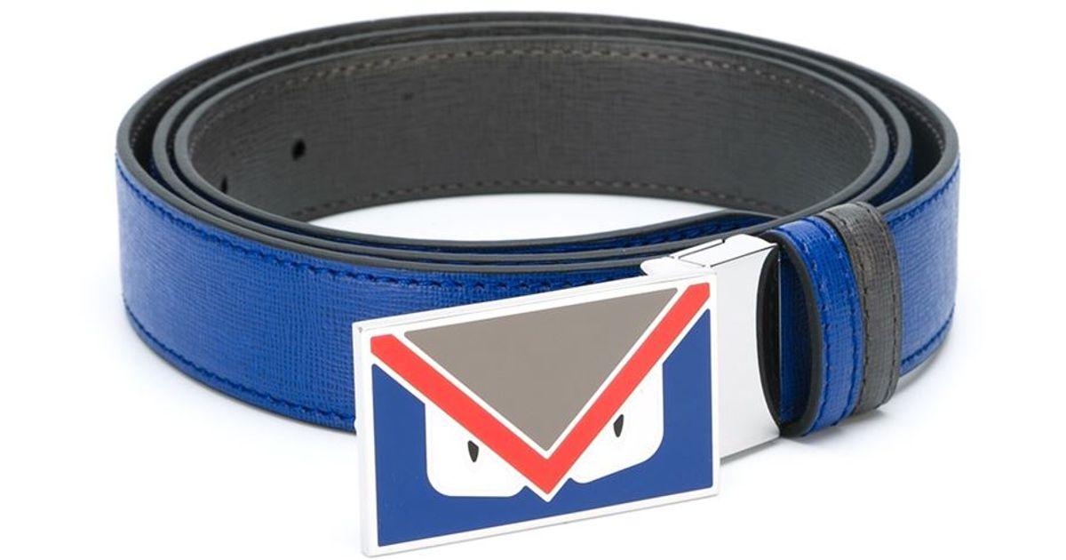 f521962643b6e ... official lyst fendi bag bugs belt in blue for men 880ad eb1ab