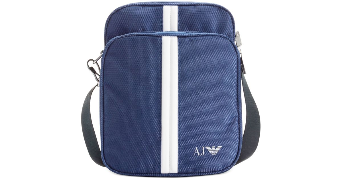 a9d22b34b266 Lyst - Armani Jeans Nylon Crossbody Bag in Blue for Men