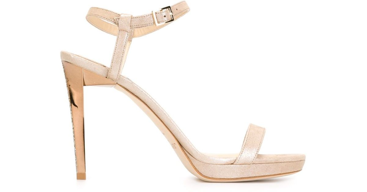 a83ab889aa3 Lyst - Jimmy Choo  claudette  Sandals in Natural