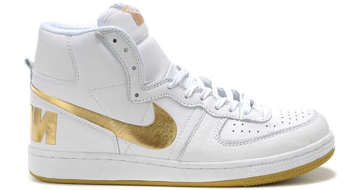 Lyst - Nike Terminator High White gold in White 319c606d1