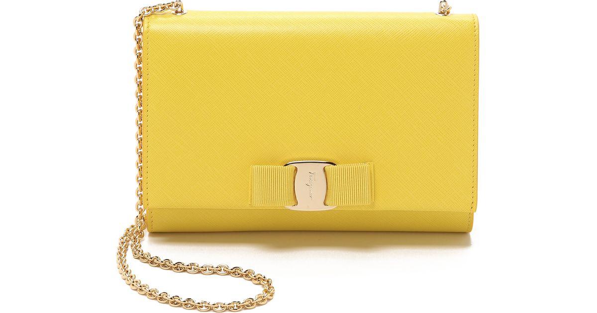 ceedcc9bec29 Ferragamo Miss Vara Cross Body Bag - Mimosa in Yellow - Lyst