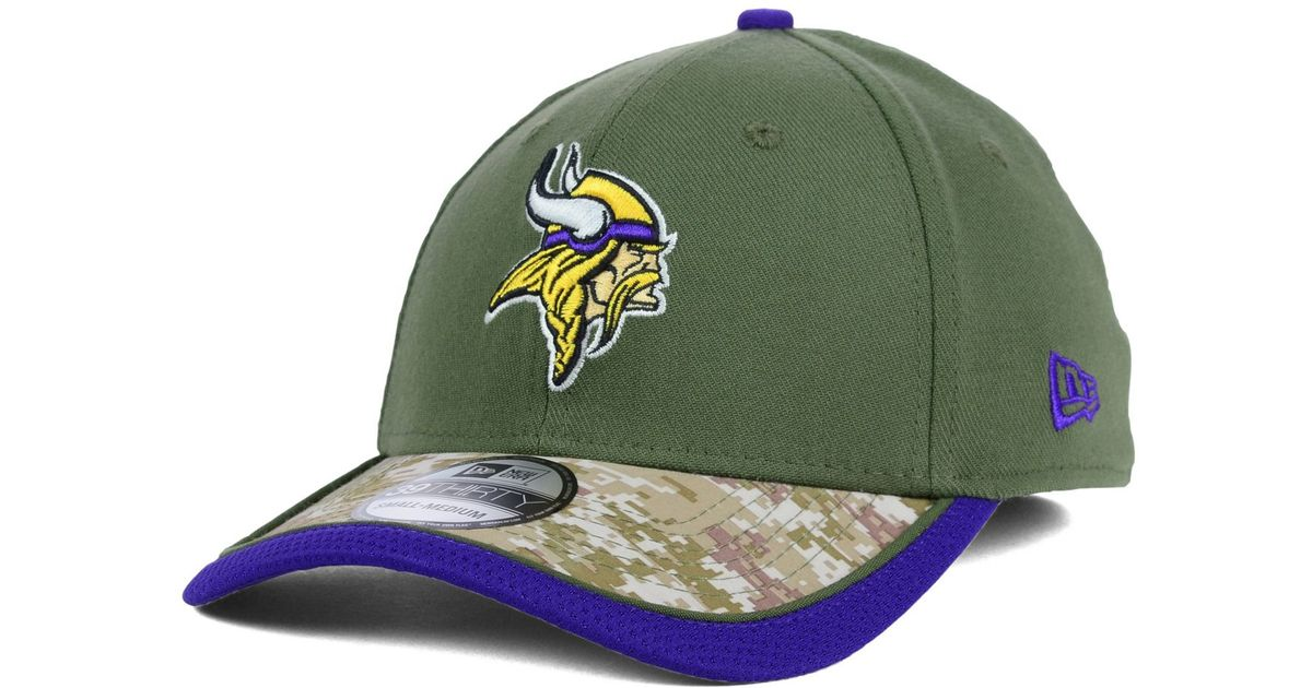 best service a4d04 abf3c KTZ Minnesota Vikings Salute To Service 39thirty Cap in Green for Men - Lyst