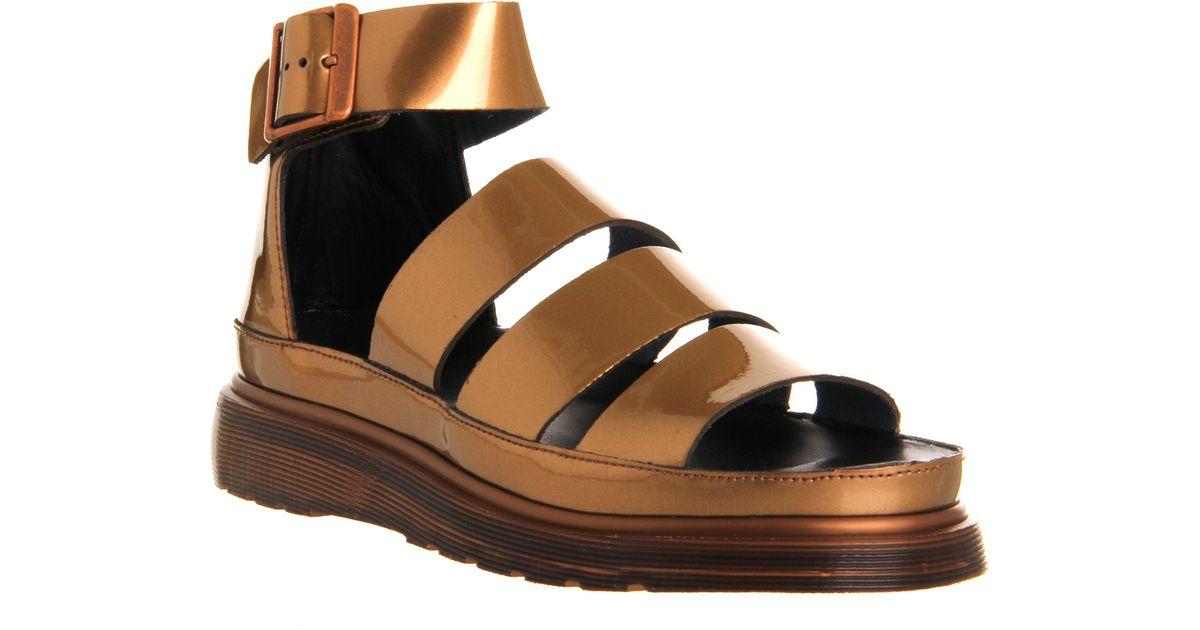 257333446243 Lyst - Dr. Martens Shore Clarissa Chunky Strap Sandal in Metallic