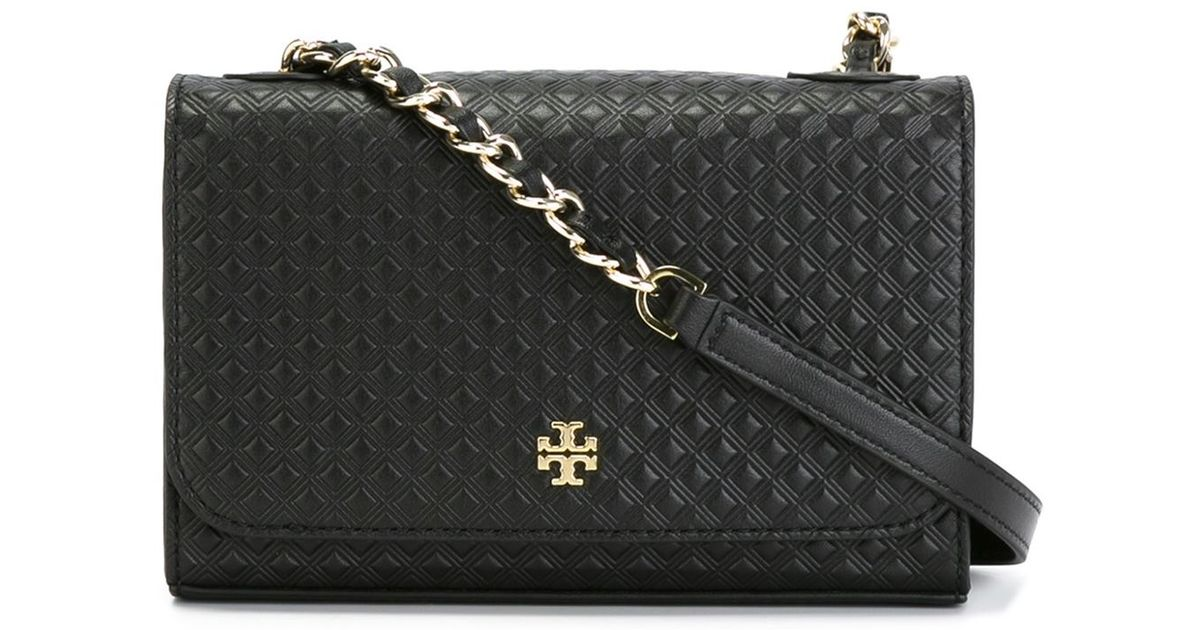 907c640e6e1 Lyst - Tory Burch Quilted Crossbody Bag in Black