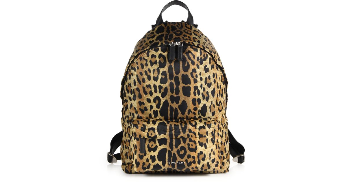 Givenchy Small Leopard-print Nylon Backpack in Animal (leopard) | Lyst