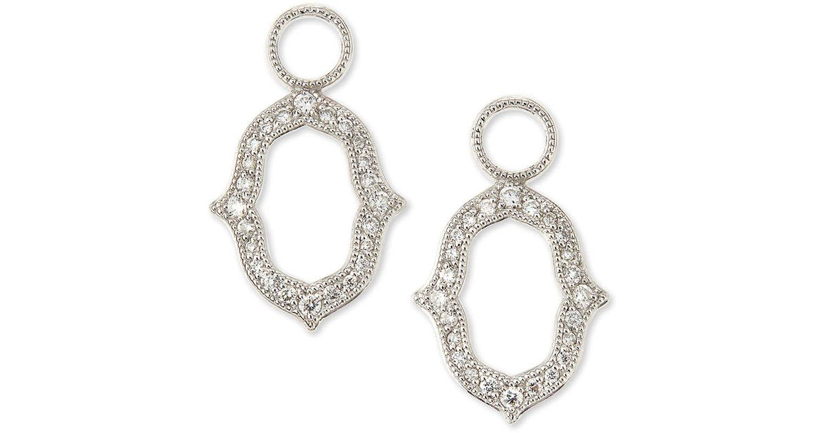 Lyst Jude Frances White Gold Moroccan Diamond Earring Charms In Metallic