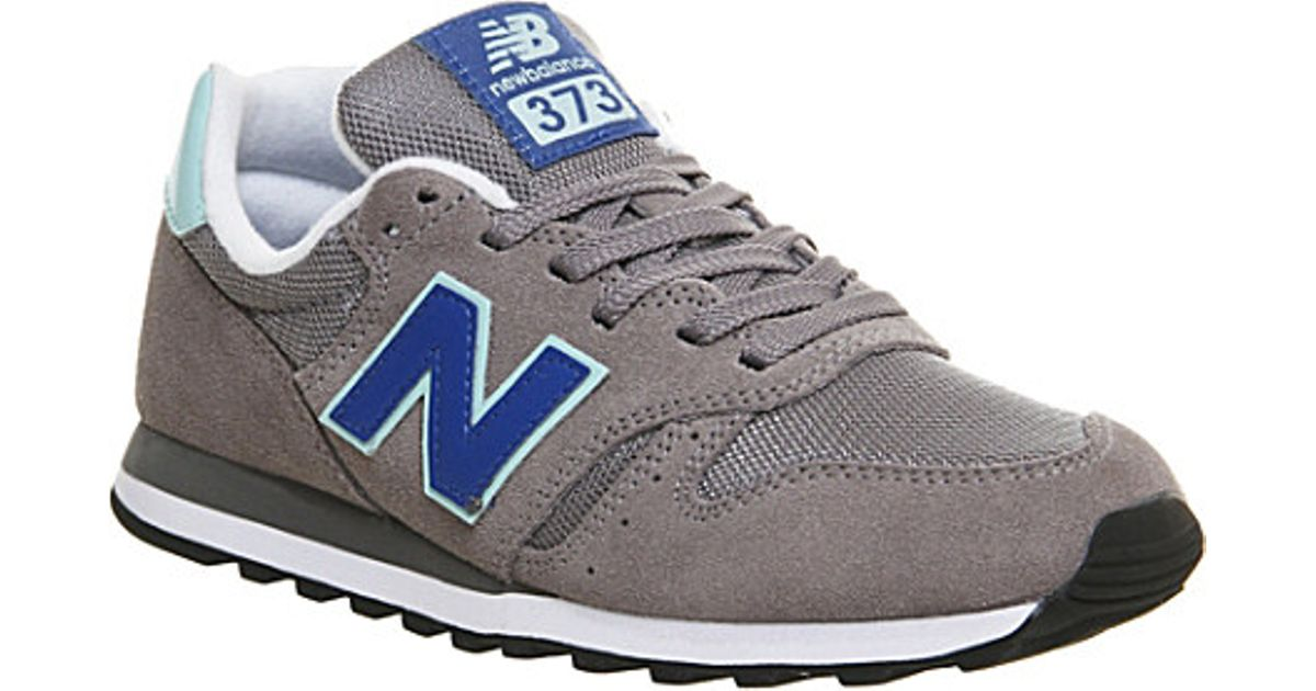New Balance 373 Suede And Mesh Trainers For Men in Grey