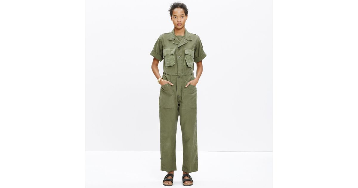 d0e19a7b63bf Lyst - Madewell   M-82 By George Mccracken™ Jumpsuit in Green