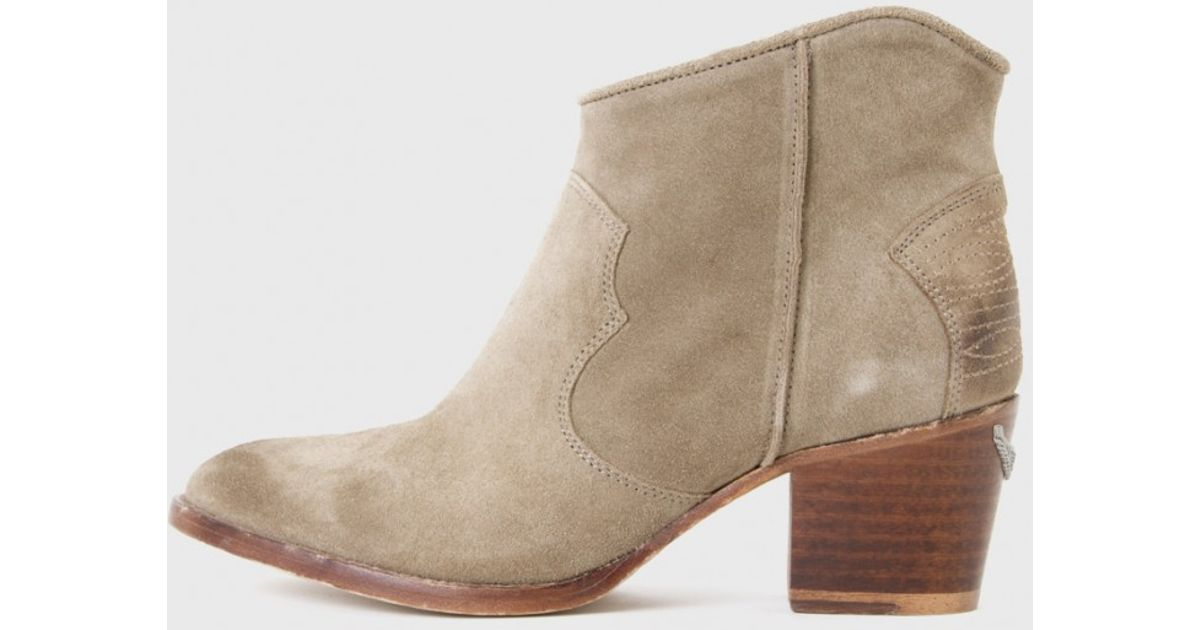 Zadig & Voltaire Molly Bottines - Gris F0yIomj