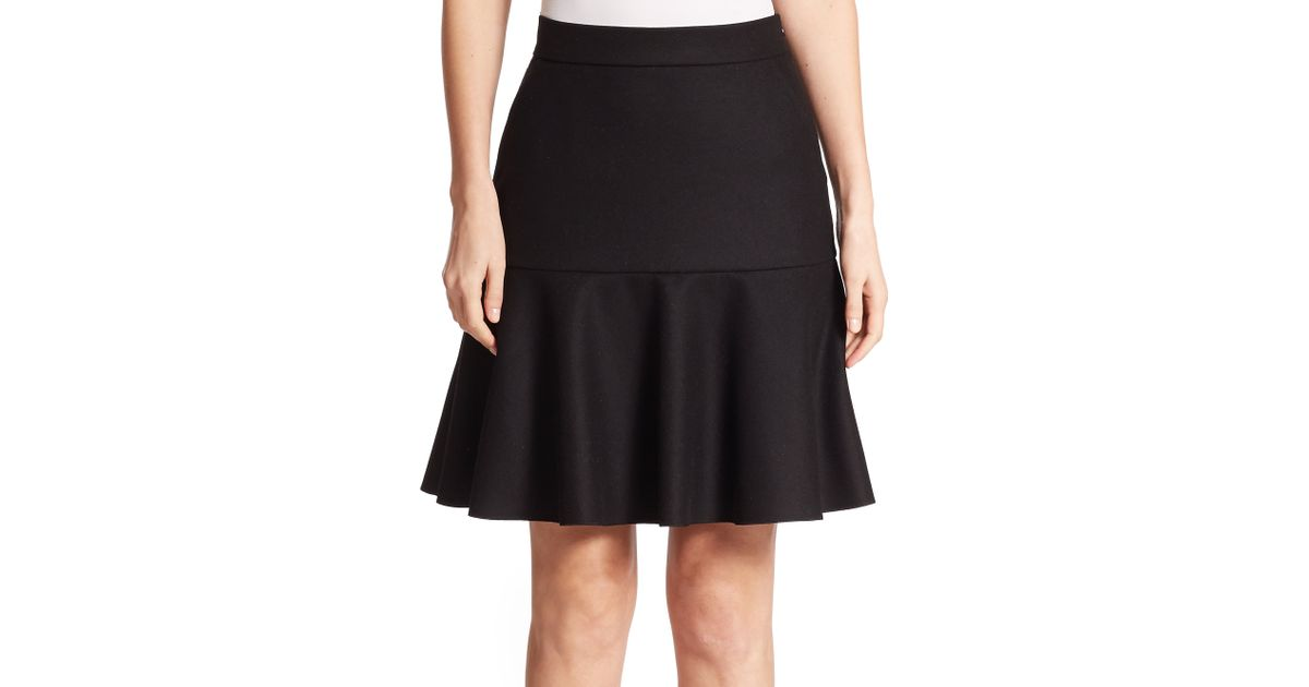 M missoni Wool-blend A-line Skirt in Black   Lyst