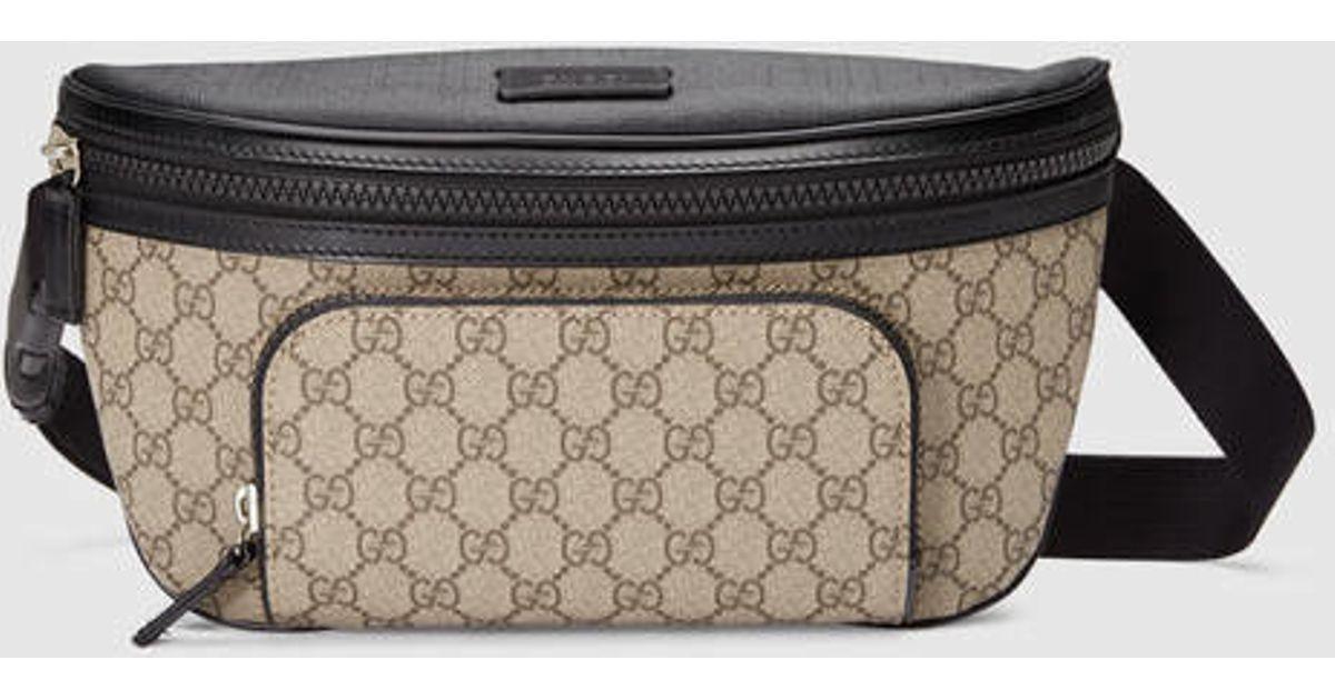 25b605b58 Gucci Gg Supreme Belt Bag in Natural for Men - Lyst