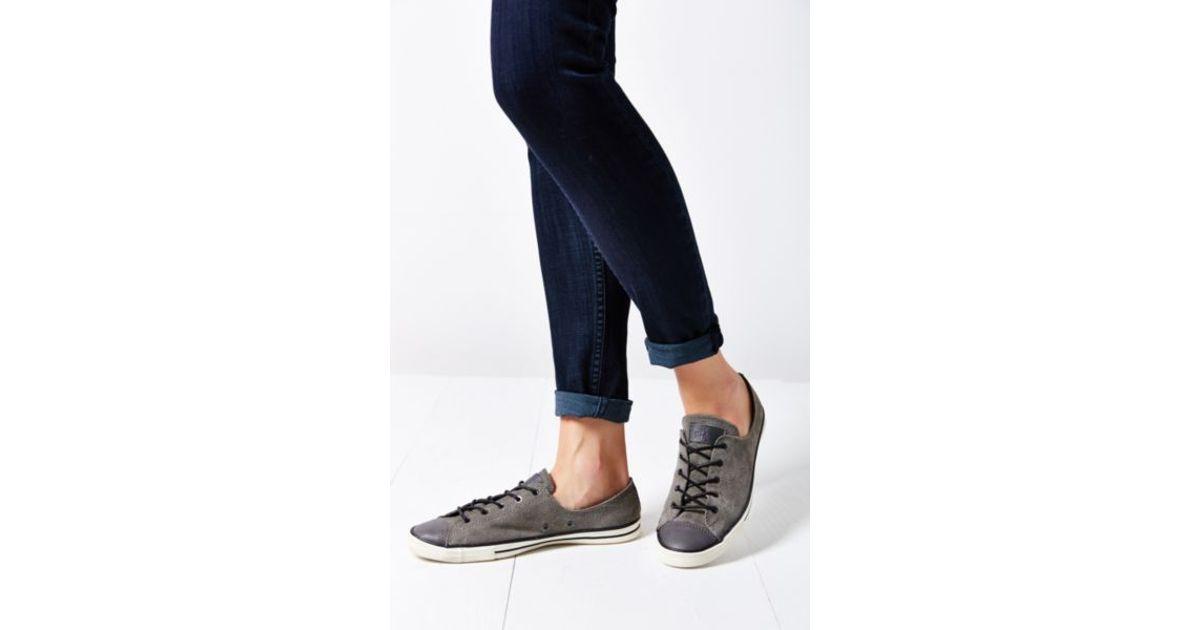 c59ec95926381a Lyst - Converse Chuck Taylor All Star Fancy Suede Low-Top Women S Sneaker  in Gray