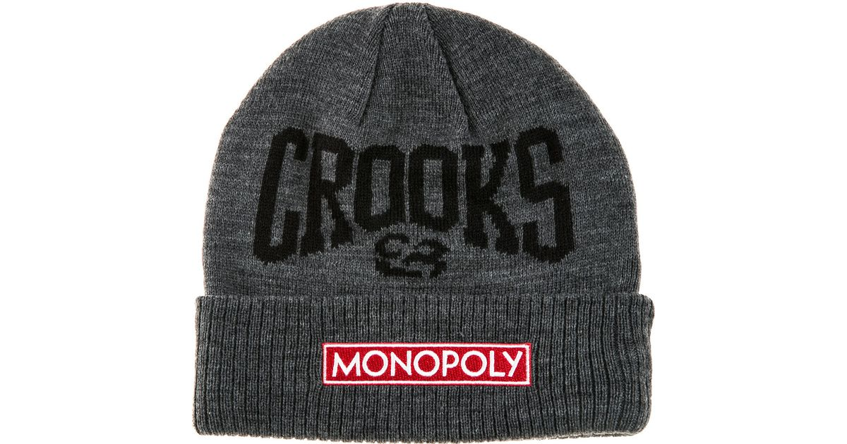 b705ad6e08e Lyst - Crooks And Castles The Crooks X Monopoly Beanie in Gray