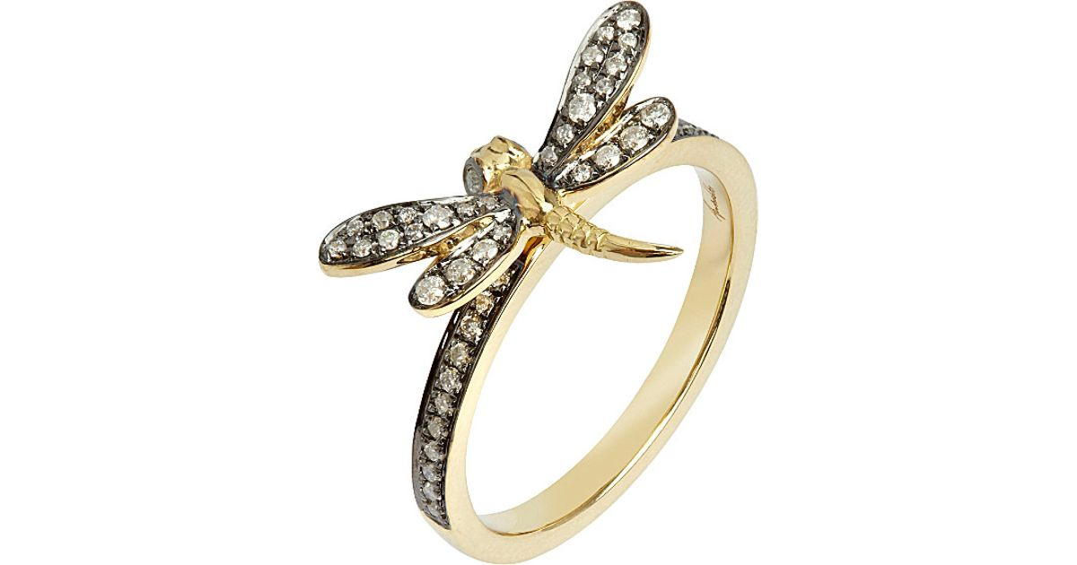 Gold Dragonfly Ring