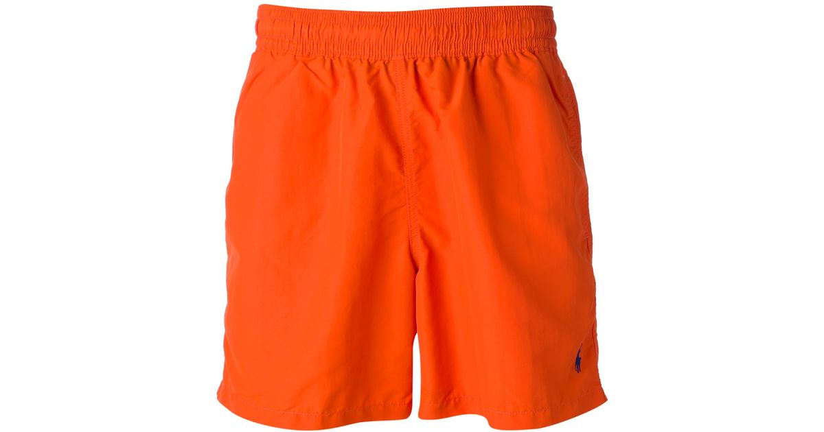 cd4deadd2c ... ireland lyst polo ralph lauren logo deck shorts in orange for men 58573  8944d