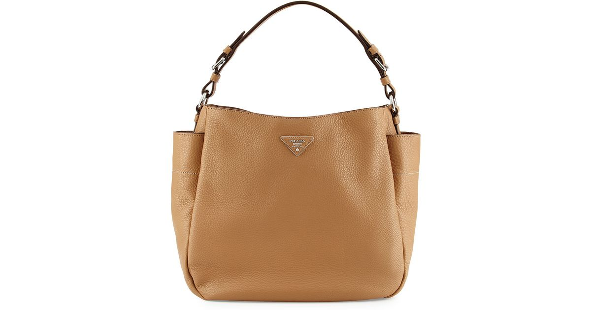 Lyst - Prada Vitello Daino Single Strap Hobo Bag in Brown d15d13a0f4
