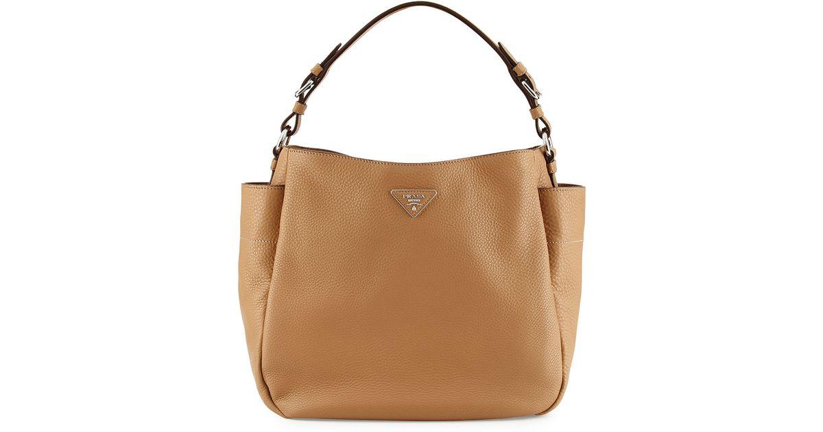 6d4106f90af7 Prada Vitello Daino Single Strap Hobo Bag in Brown - Lyst