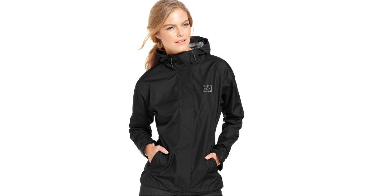 Helly Hansen Seven J Hooded Rain Jacket In White Lyst
