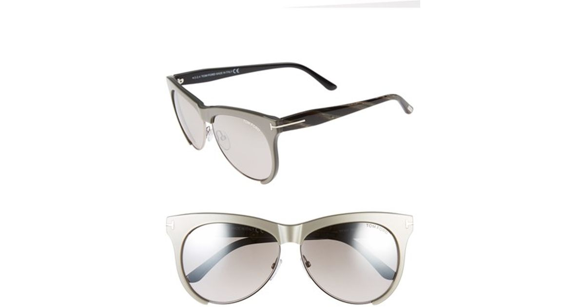 952b11f8c412 Lyst - Tom Ford  leona  59mm Sunglasses in Gray
