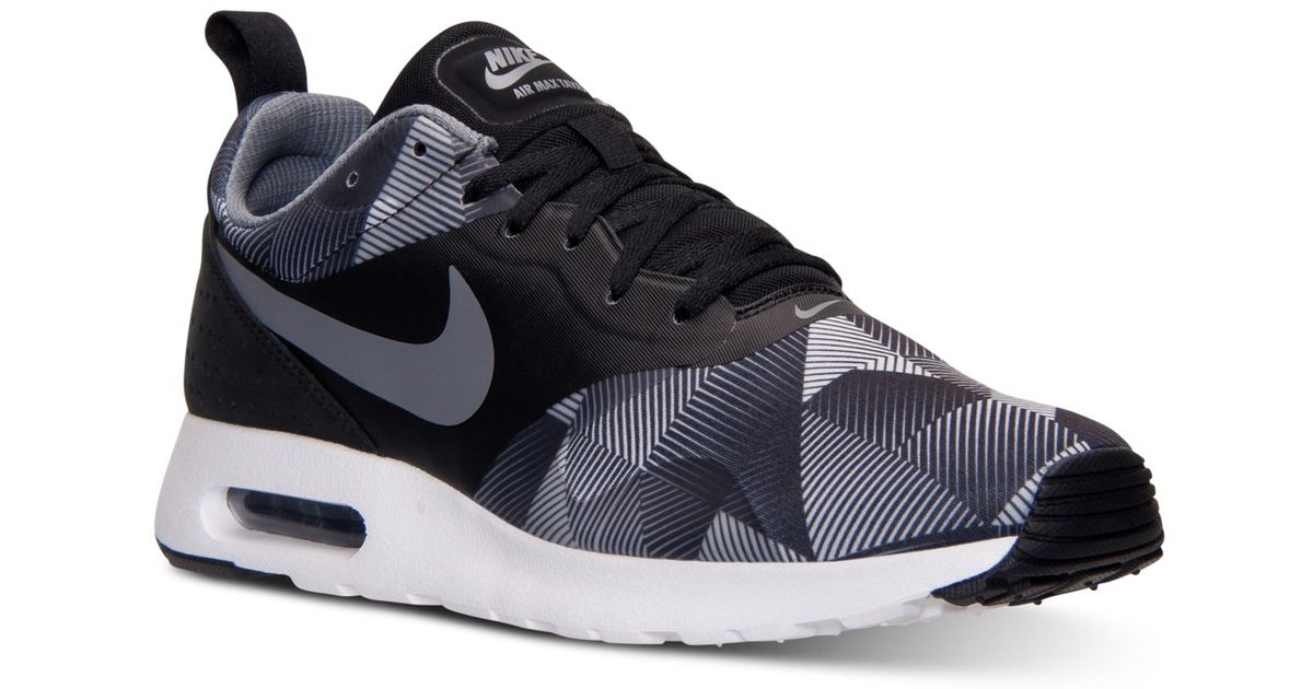 Lyst - Nike Men's Air Max Tavas Print Running Sneakers From Finish Line in Gray for Men