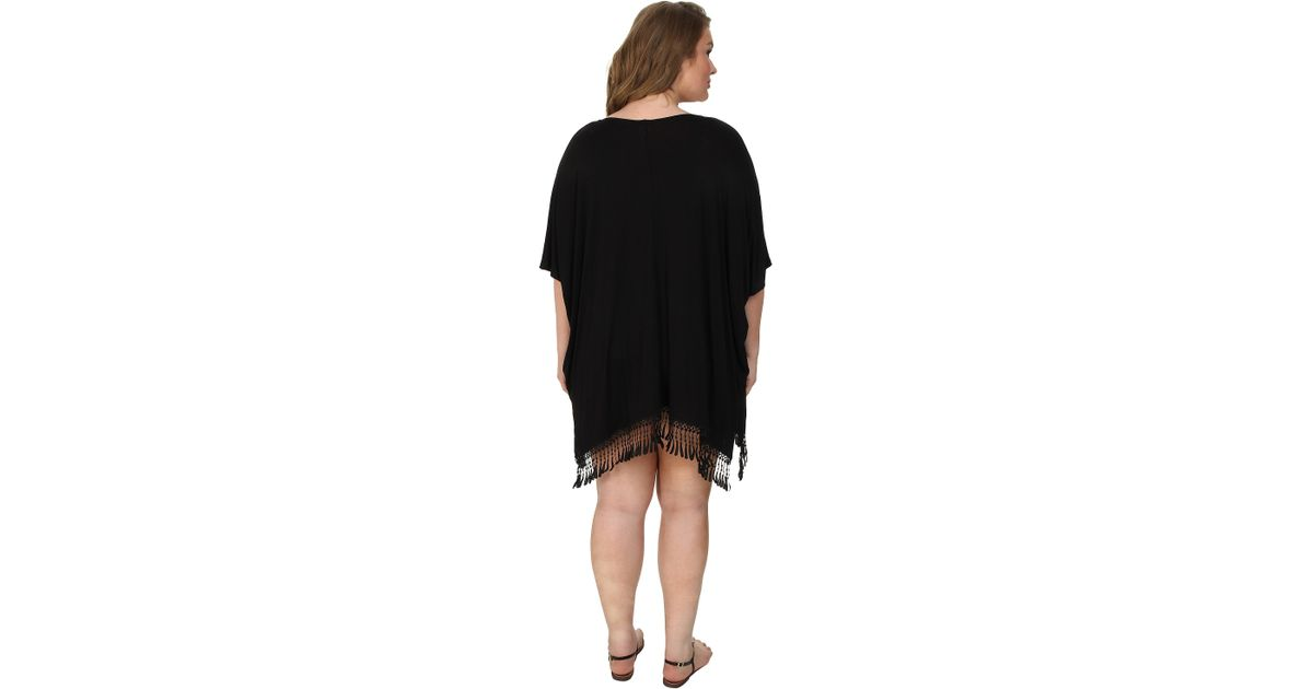 52ab7ff8f42ae Lyst - Becca Plus Size Becca Etc African Beat Kimono Cover-up in Black