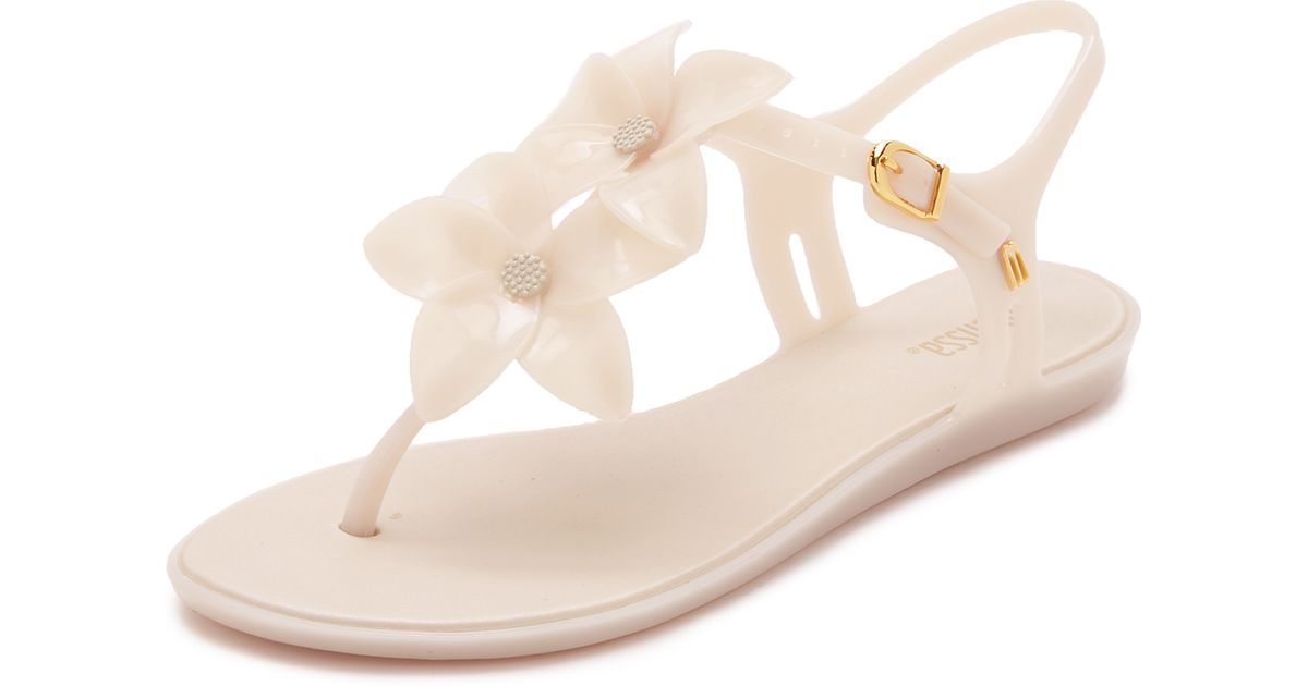 96c934343311f6 ... Lyst - Melissa Solar Garden Ii Thong Sandals in White new arrive 2e79e  ac841 ...