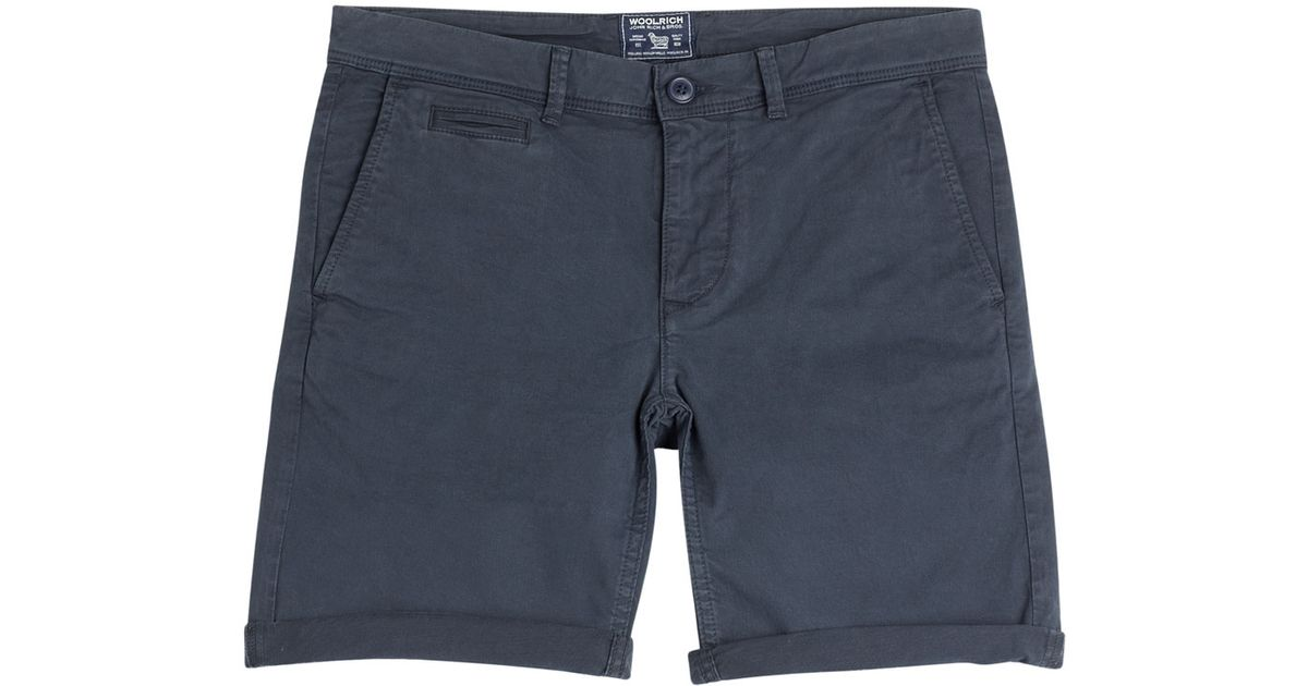 De Blue Chino Woolrich De De Shorts Blue Shorts Chino Chino Shorts Woolrich Blue aAaEUwBZqx