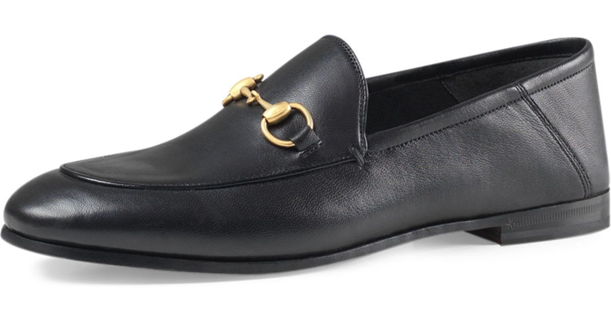 a7349e2eea4 Lyst - Gucci Brixton Leather Horsebit Loafer in Black for Men