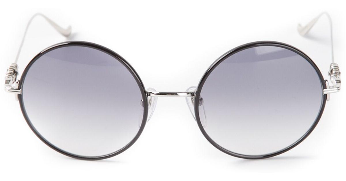 0d8bdd7434ed Lyst - Chrome Hearts Over Easy Sunglasses in Black