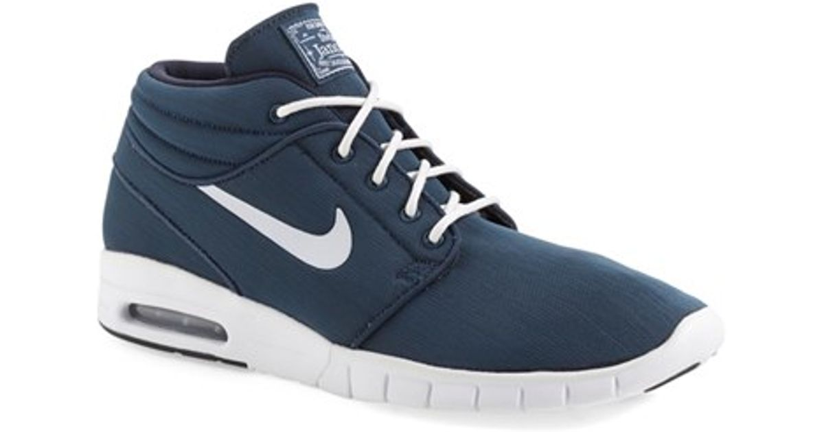 san francisco e7886 b523f ... where to buy lyst nike sb stefan janoski max mid skate shoe in blue for  men