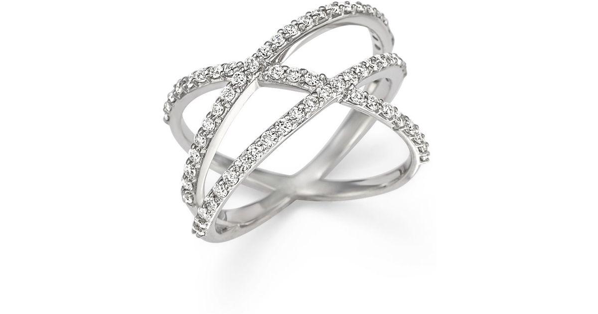 Lyst - Kc Designs Diamond Criss Cross Ring In 14k White Gold in White