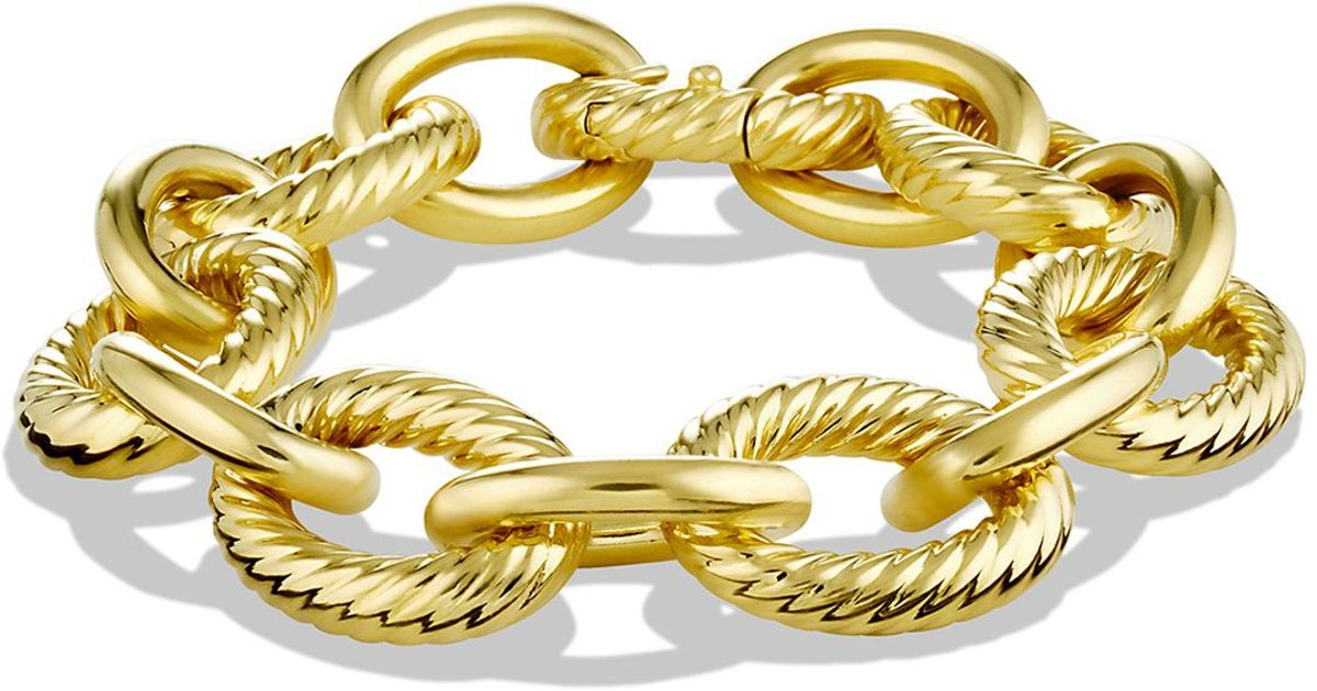 david yurman oval link bracelet david yurman large oval link bracelet in yellow 3097