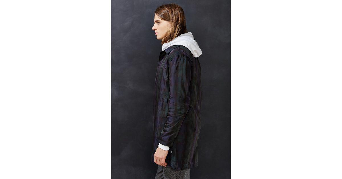 Stussy chloe womens duffle jacket navy