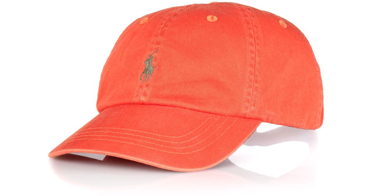 Lyst - Polo Ralph Lauren Polo Big and Tall Classic Chino Twill Baseball Cap  in Orange for Men afb7e0e3a56