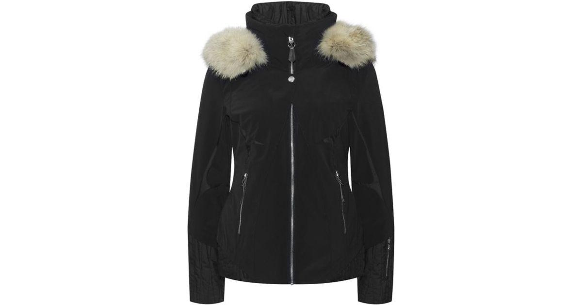 Spyder Amour Fur Trimmed Ski Jacket in Black - Lyst 26a6aaa741c