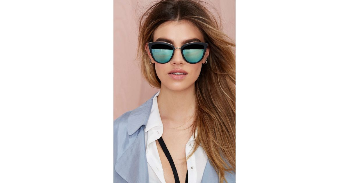 0a4f31f944 Lyst - Nasty Gal Quay My Girl Cat-Eye Shades in Black